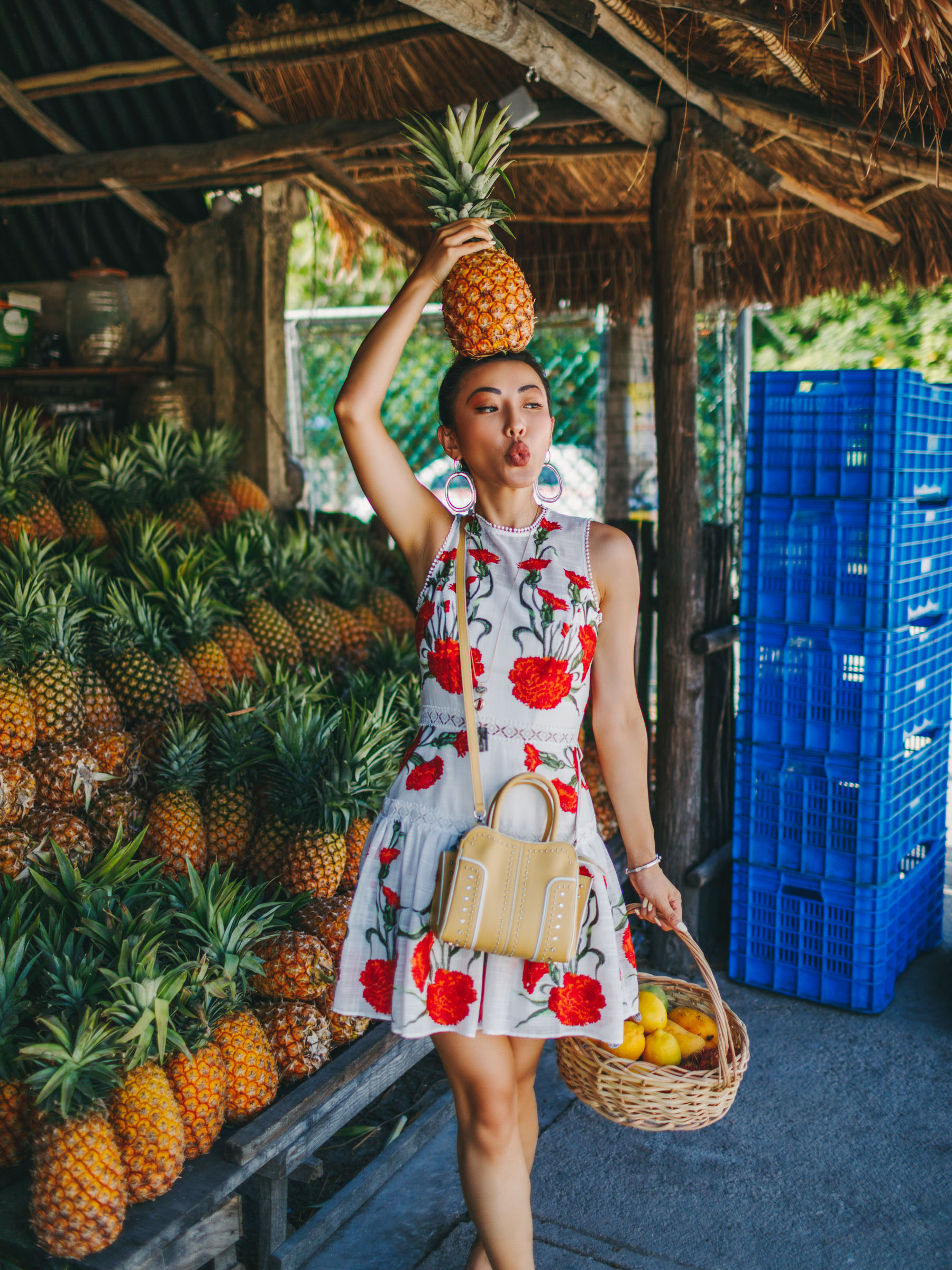linen floral dress, Vacationing in Tulum and Merida Mexico, travel style, tropical style // Notjessfashion.com