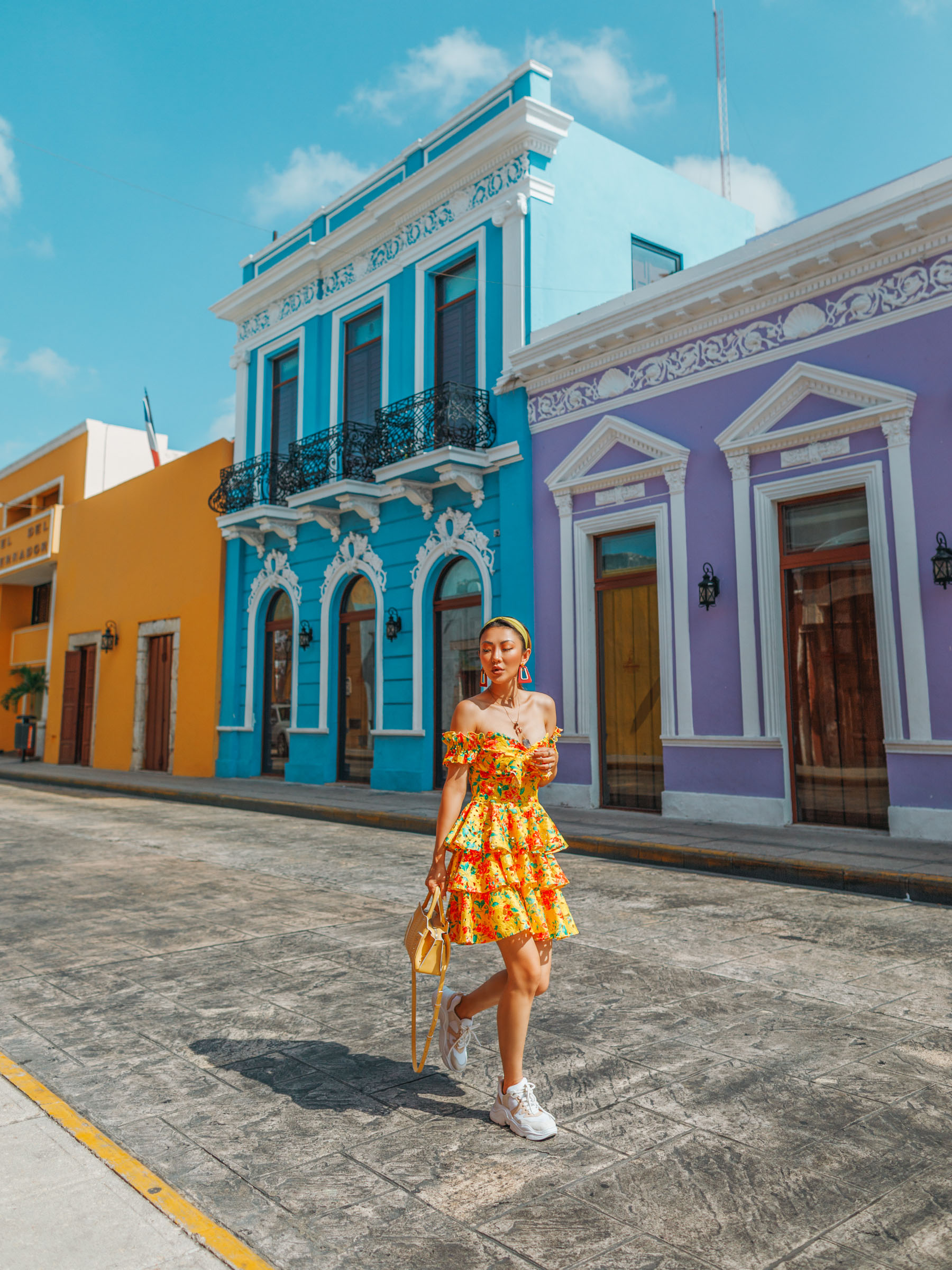 how to dress up sneakers, Vacationing in Tulum and Merida Mexico, travel style, tropical style // Notjessfashion.com