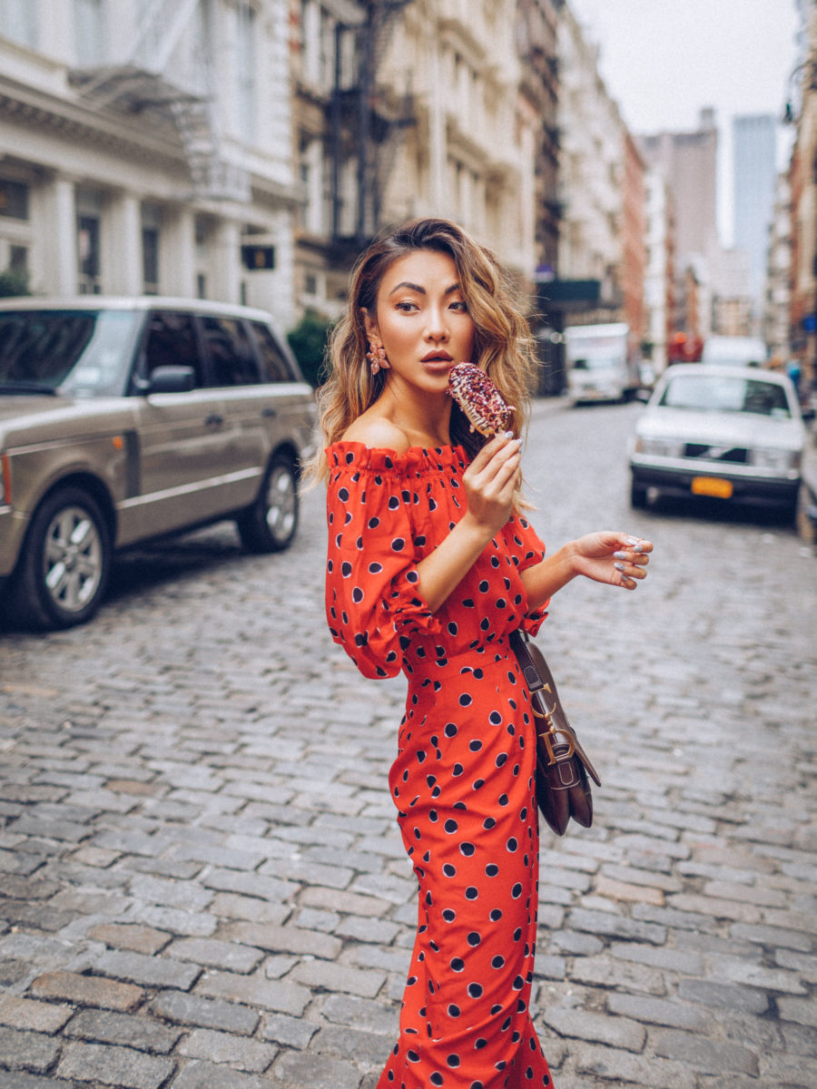How to prevent thinning hair - red polka dot dress // Notjessfashion