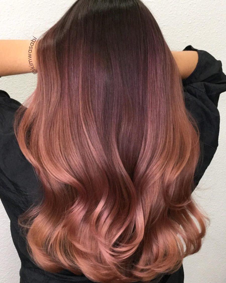Rose Gold Hair Color Trend - deep rose gold hair // Notjessfashion.com