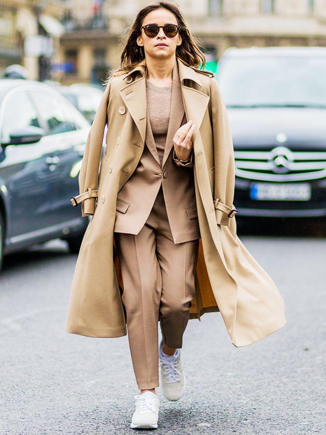 7 Ways to Look More Powerful - khaki women's suit, mirsolava duma street style, power dressing // Notjessfashion.com