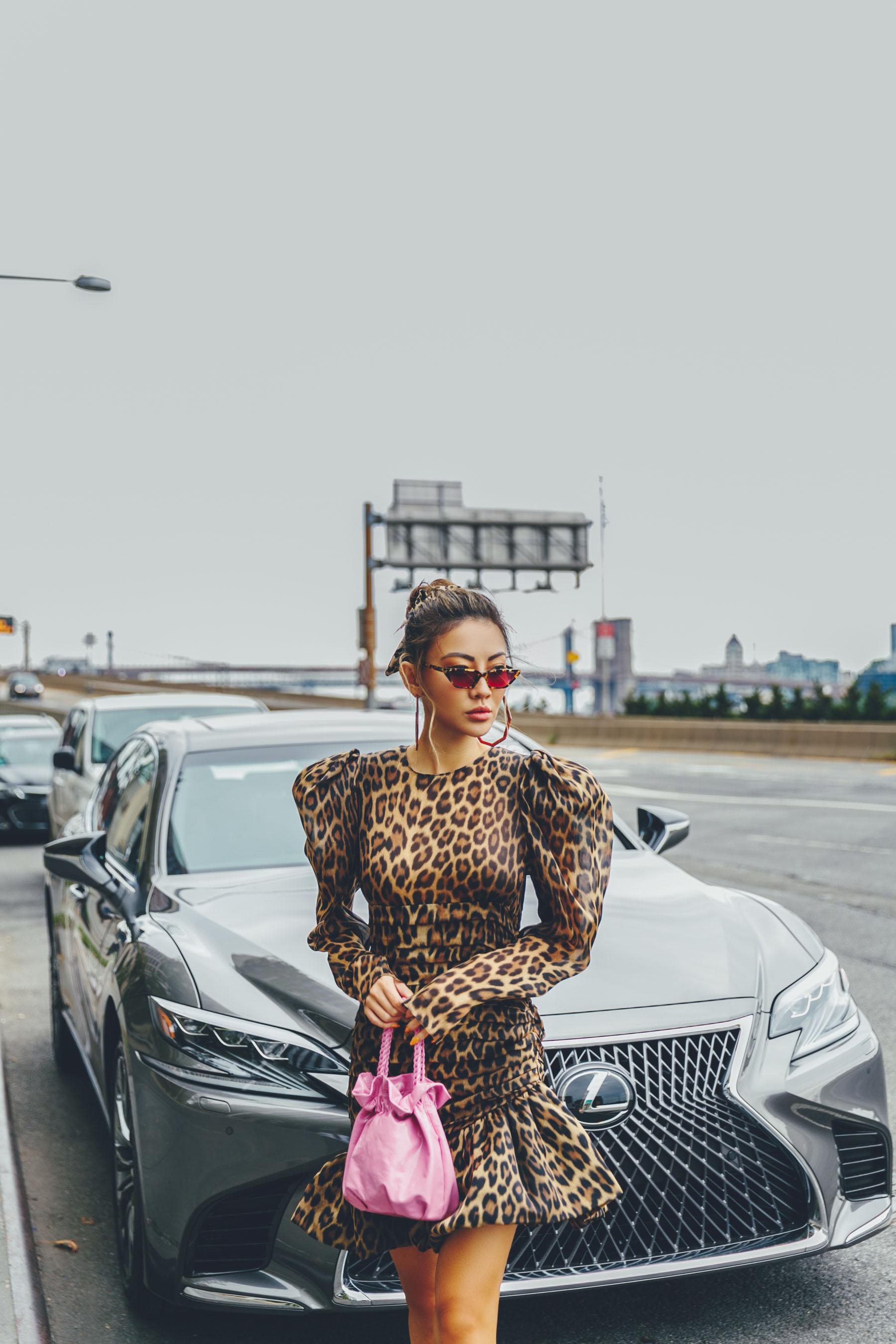 animal print, NYFW SS19 Recap, NYFW SS19 Street Style, leopard print trend, magenta heels // Notjessfashion.com
