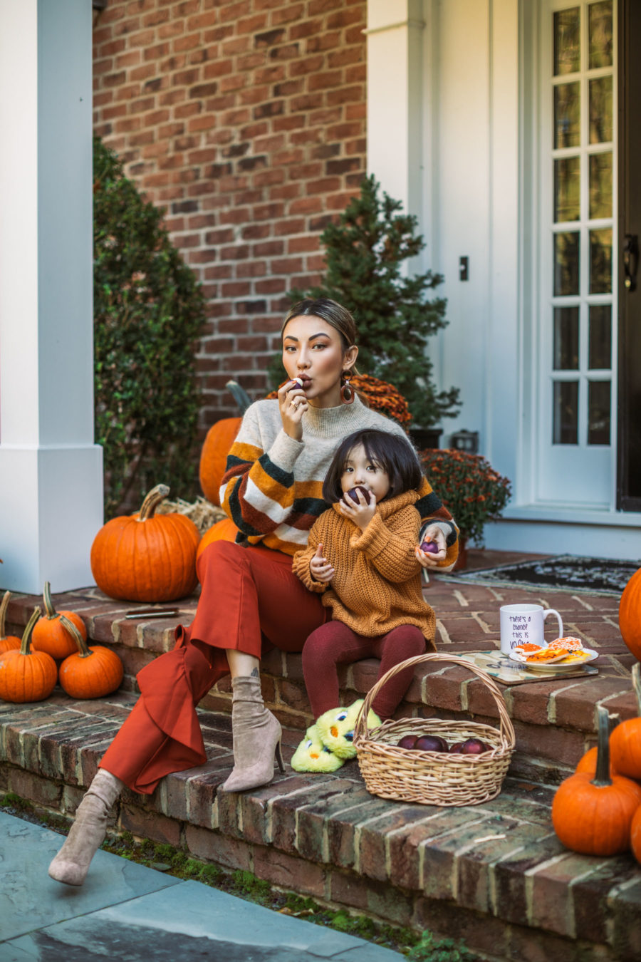 Beauty-inspired autumn celebration featuring EOS Sugarplum Lip Balm // Notjessfashion.com