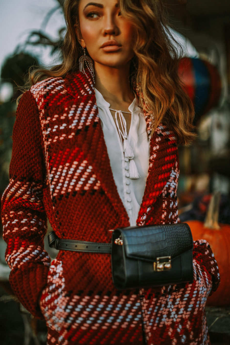 day-to-night workwear, express edition collection 2018, express plaid coat // Notjessfashion.com