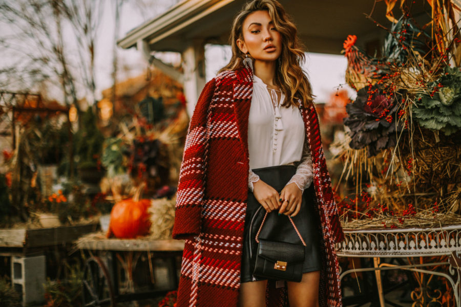 handbag trends for fall 2019, day-to-night workwear, express edition collection 2018, express plaid coat // Notjessfashion.com