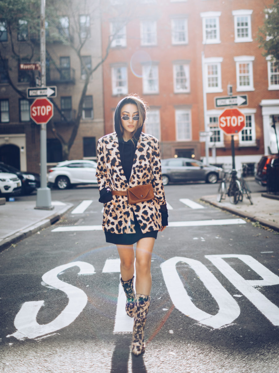 old school trends that are coming back, leopard print outfit, mid-calf boots // Notjessfashion.com