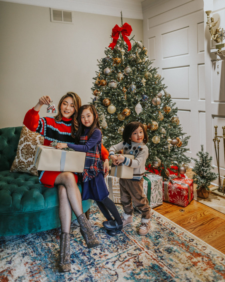 jessica wang sits by christmas tree and shares stocking stuffers for everyone // Jessica Wang - Notjessfashion.com
