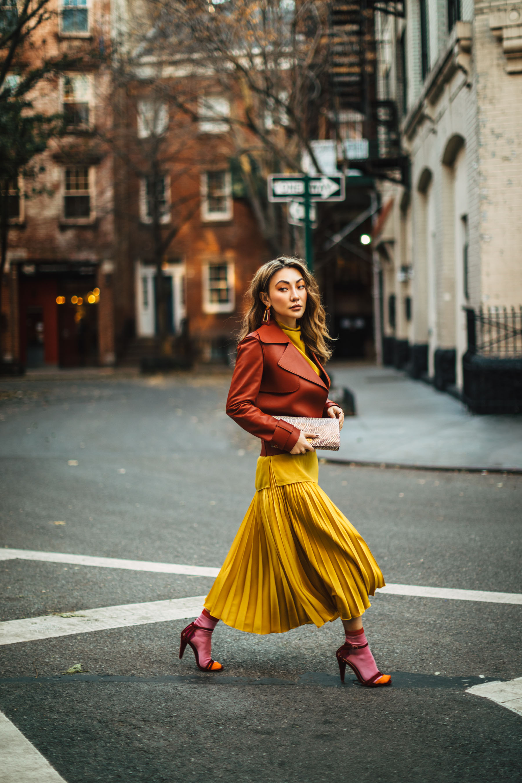 investment pieces, fall 2019 fashion, reiss pleated skirt, reiss leather jacket, pleated skirt outfit // Notjessfashion.com