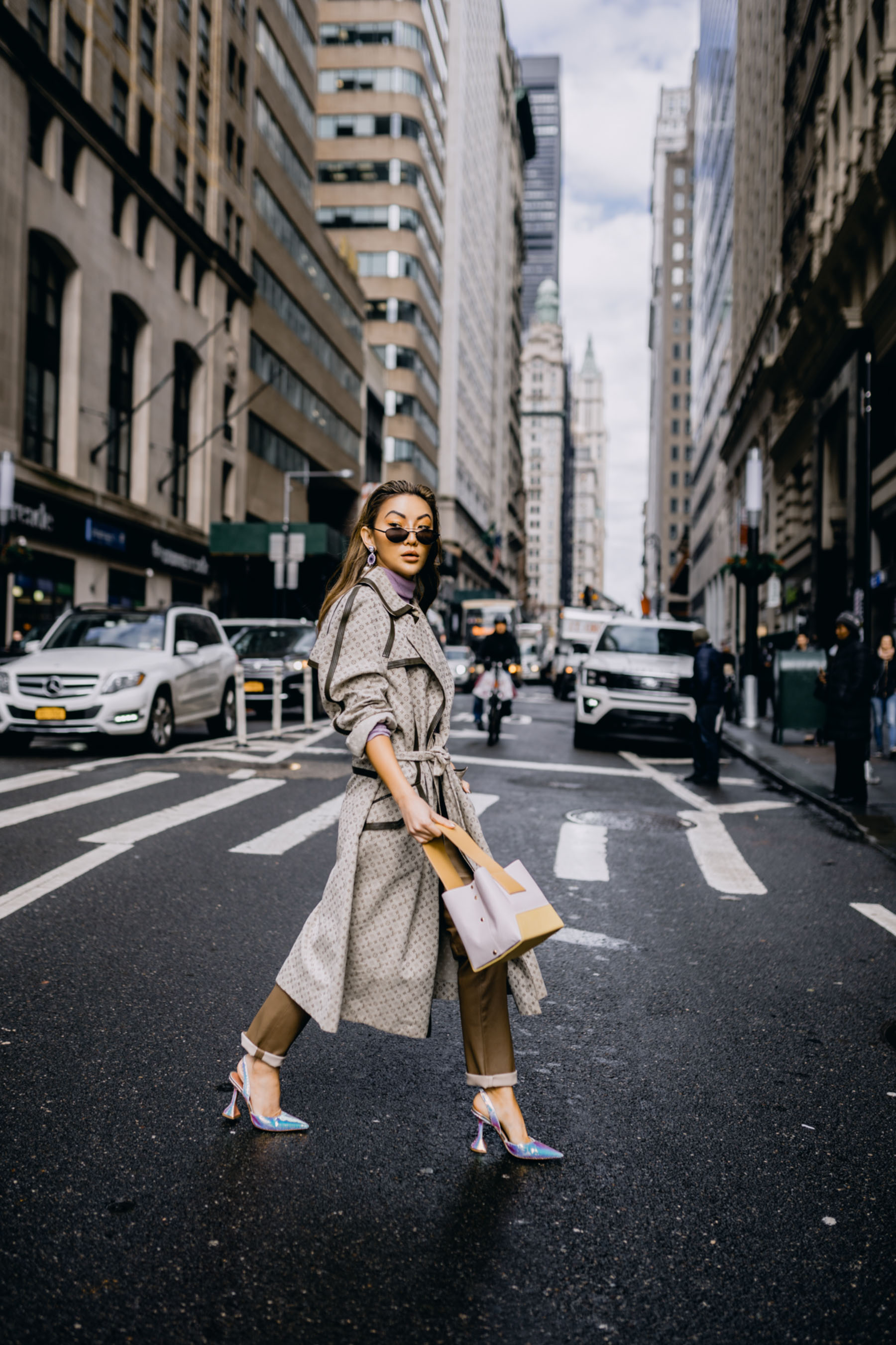biggest fall fashion trends 2019, fashion week street style, cool trench coat, louis vuitton trench coat // Notjessfashion.com