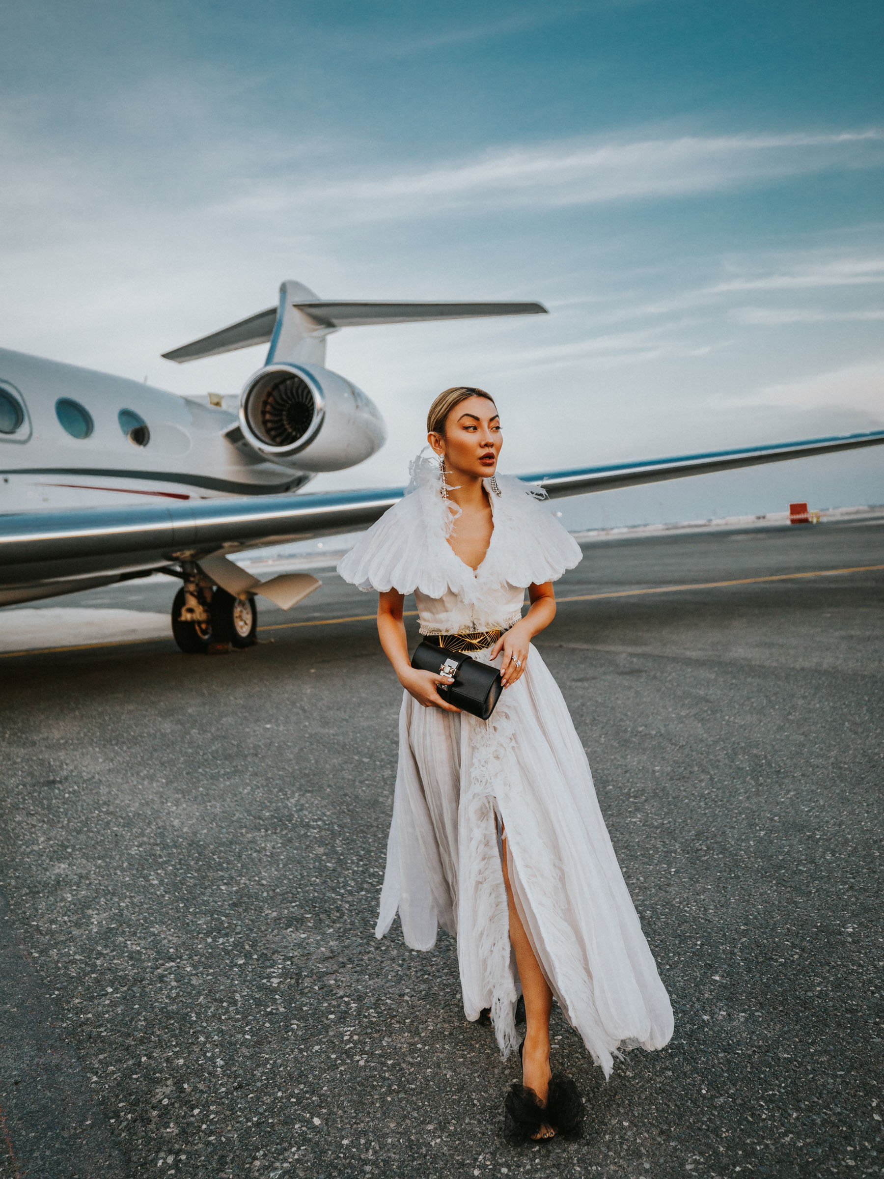 chic travel outfits, blogger travel outfits, grace chen couture dress // Notjessfashion.com