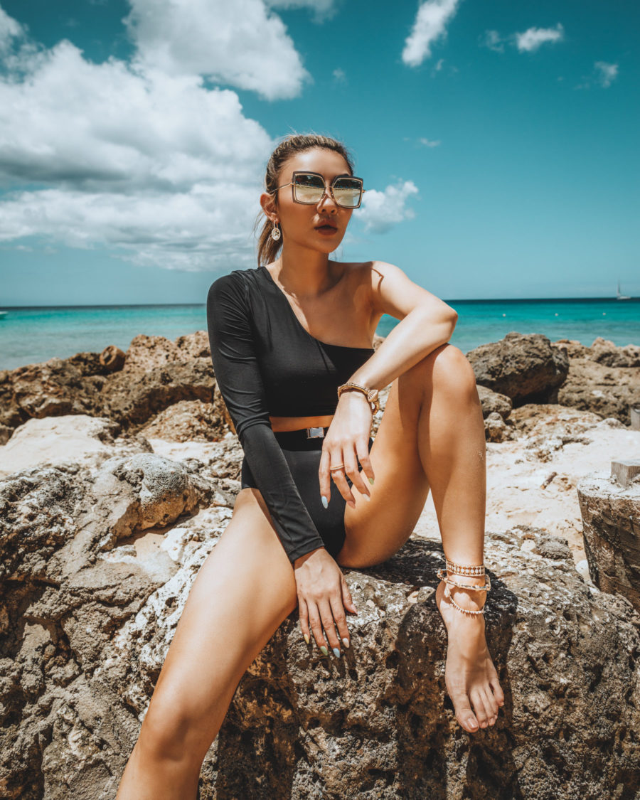 swimsuit trends for summer 2021, long-sleeve two piece swim set // Jessica Wang - Notjessfashion.com