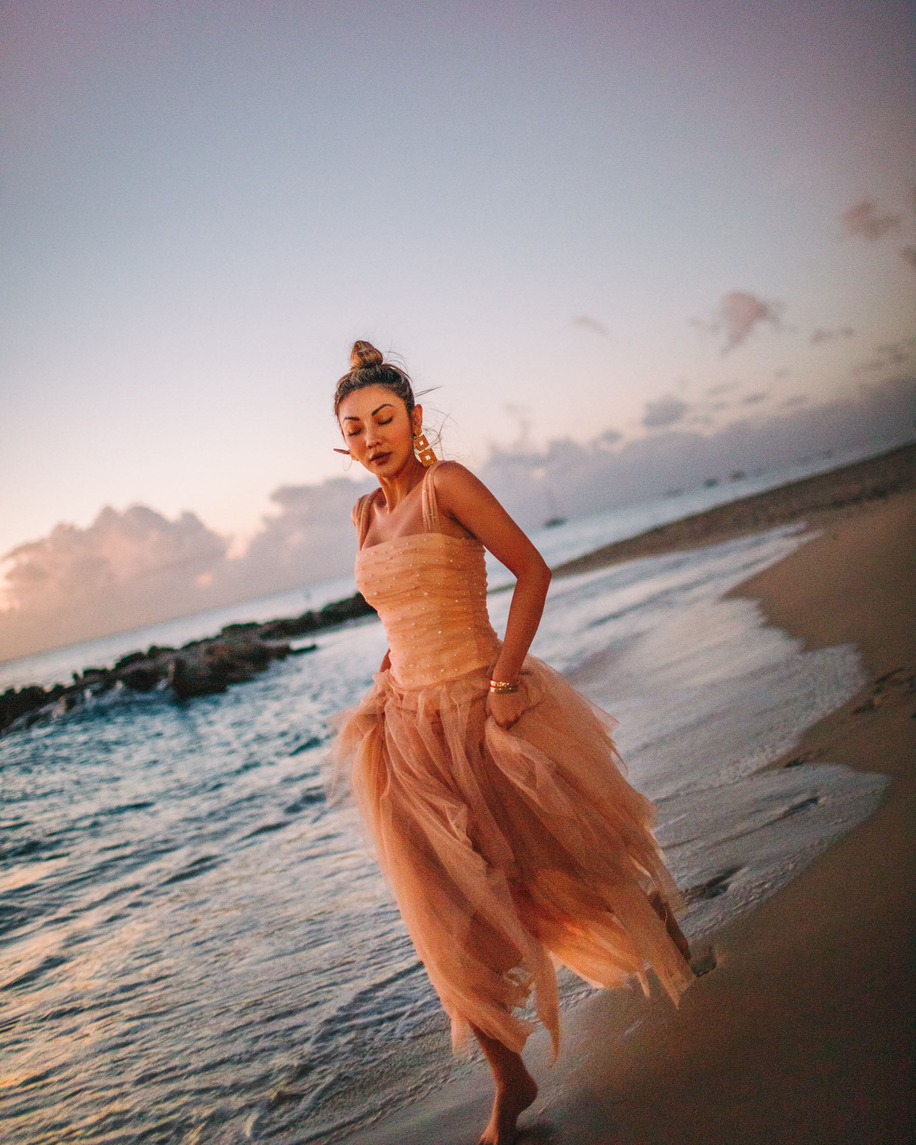 self-care regimen, bcbgmaxazria dress, barbados vacation // notjessfashion.com