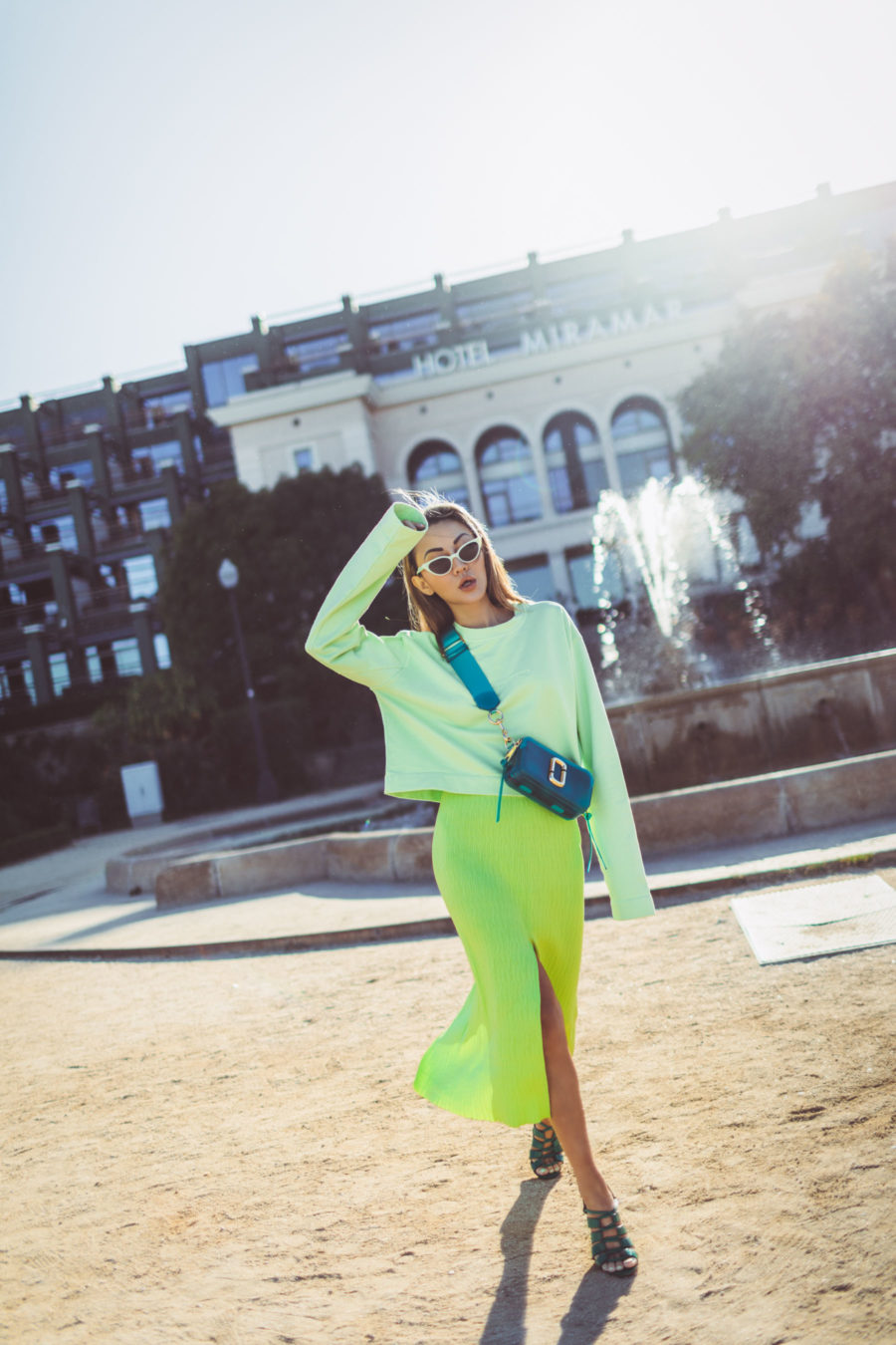 fashion blogger jessica wang shares basic wardrobe upgrades wearing neon outfit // Jessica Wang - Notjessfashion.com