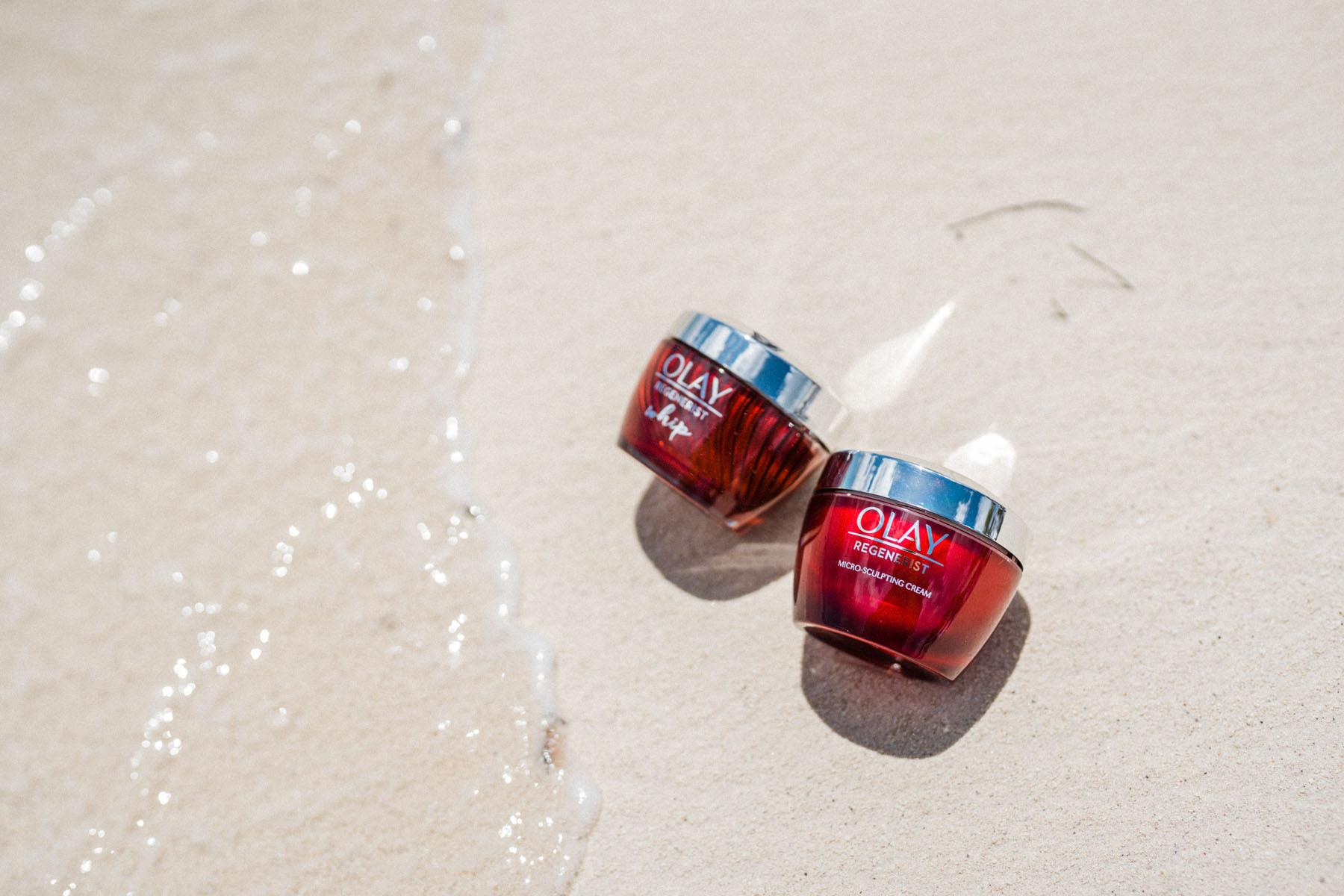 beach shore, olay regenerist whip, olay regenerist microsculpting cream, moisturizer // Notjessfashion.com