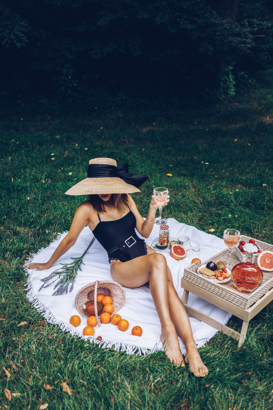 what to wear for 4th of july featuring belted one-piece swimsuit // Jessica Wang - Notjessfashion.com