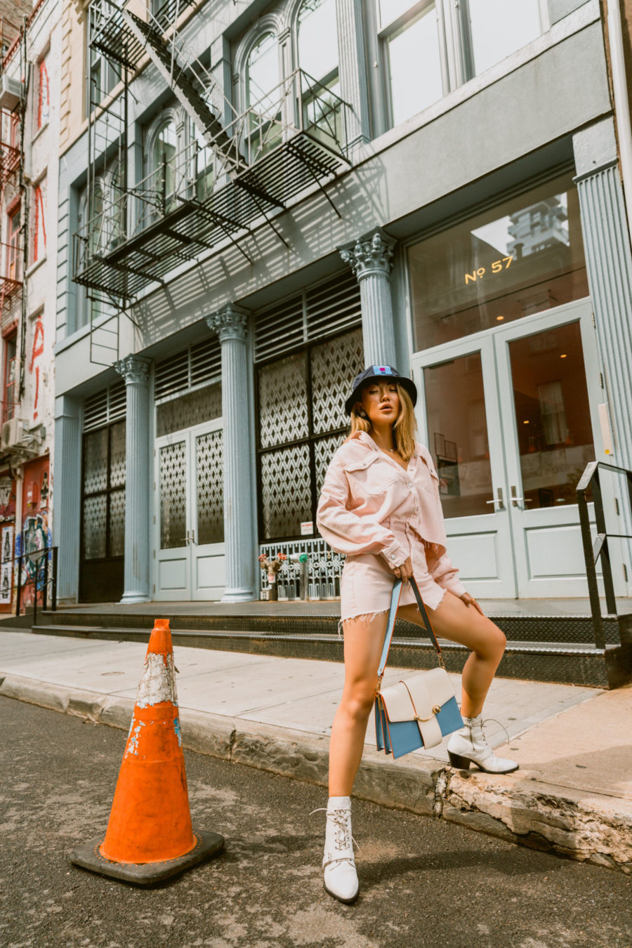 summer 2020 trends featuring bucket hat and denim outfit // Jessica Wang - Notjessfashion.com