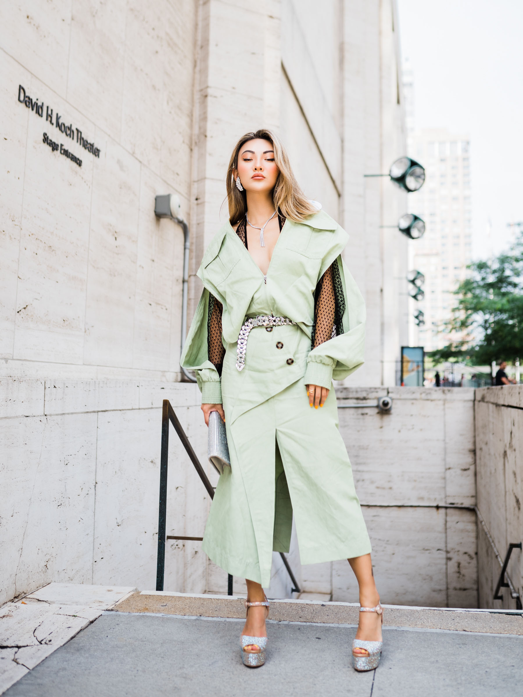 biggest fall fashion trends 2019, pistachio green, green fashion trend, monochromatic green outfit, roland mouret dress // Notjessfashion.com