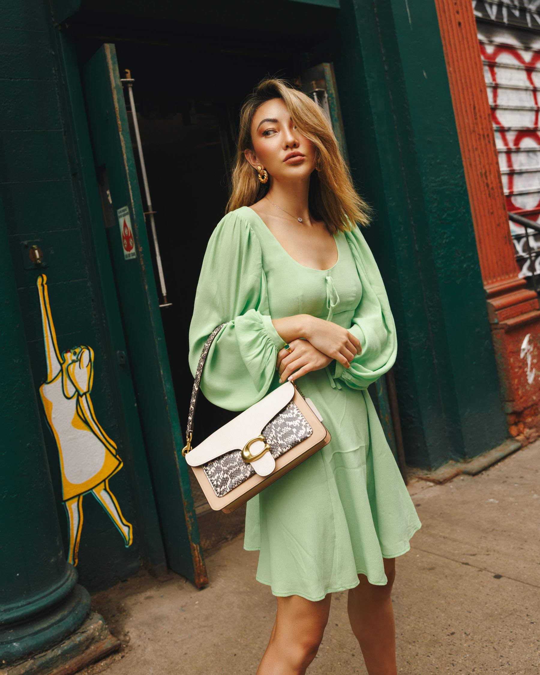 new fall beauty launches, pistachio green dress, fall beauty trends // Notjessfashion.com