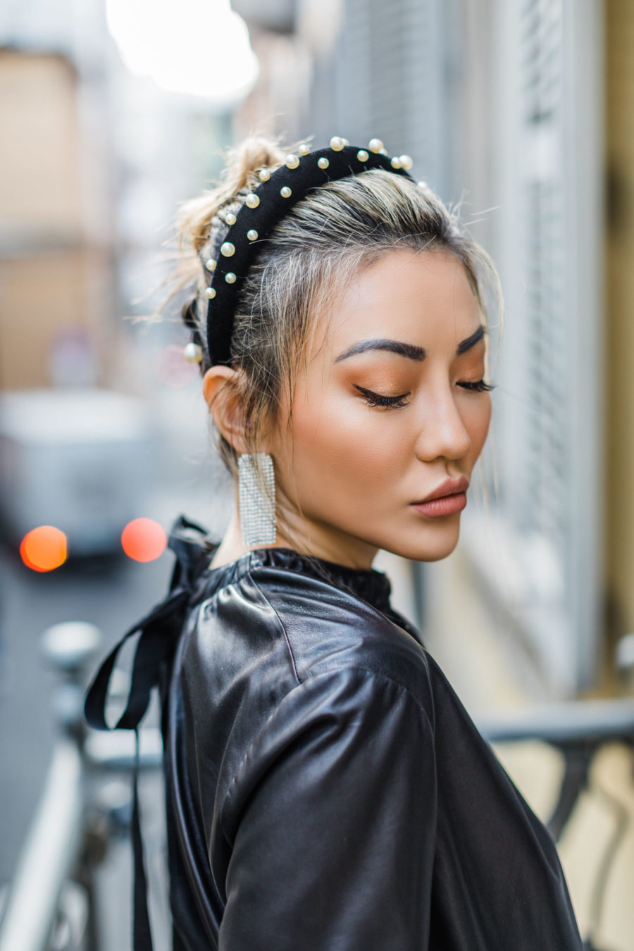 jessica wang wearing an embellished headband and sharing her favorite zoom friendly accessories // Jessica Wang - Notjessfashion.com