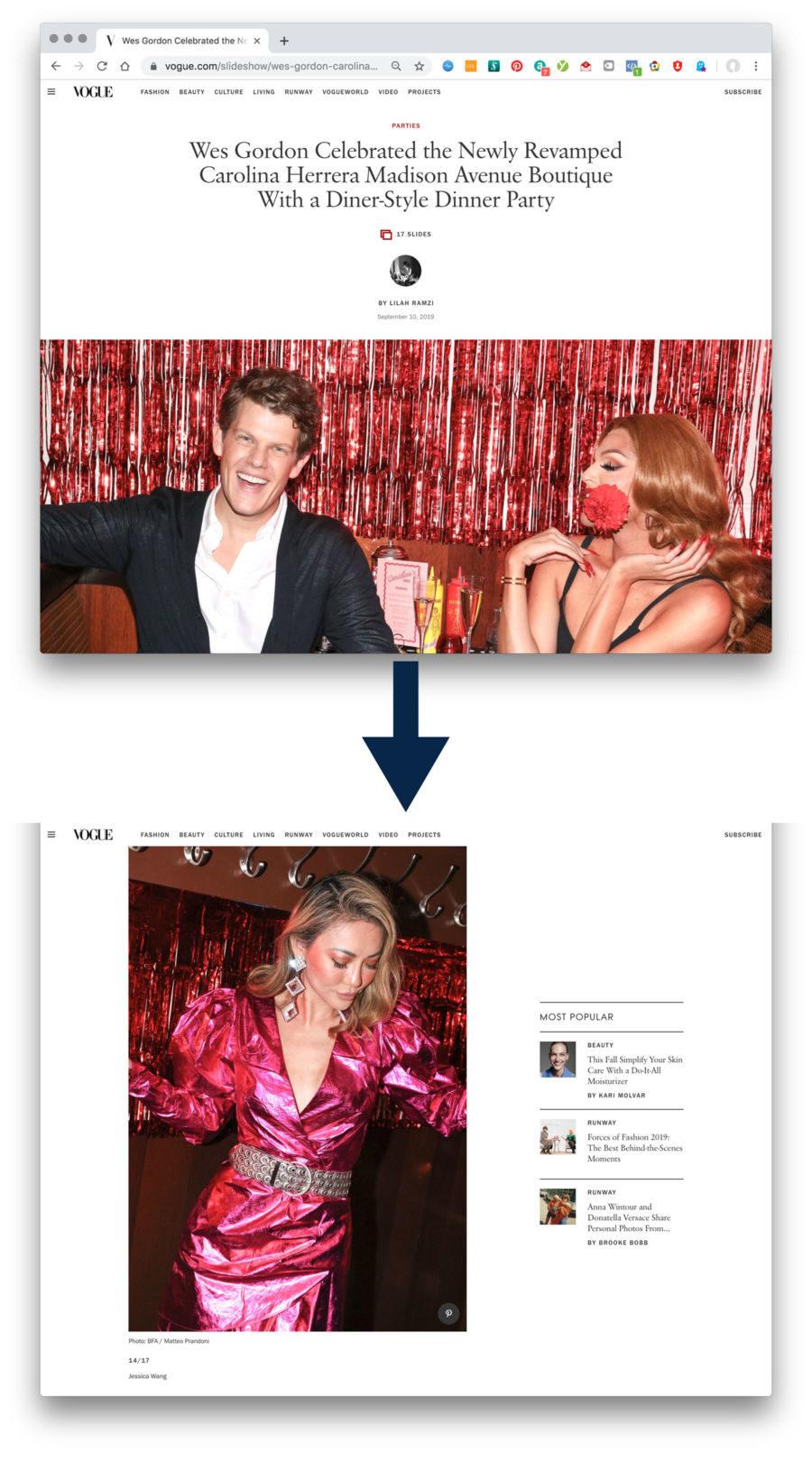 Vogue.com Carolina Herrera NYFW SS20 Feature || NotJessFashion.com