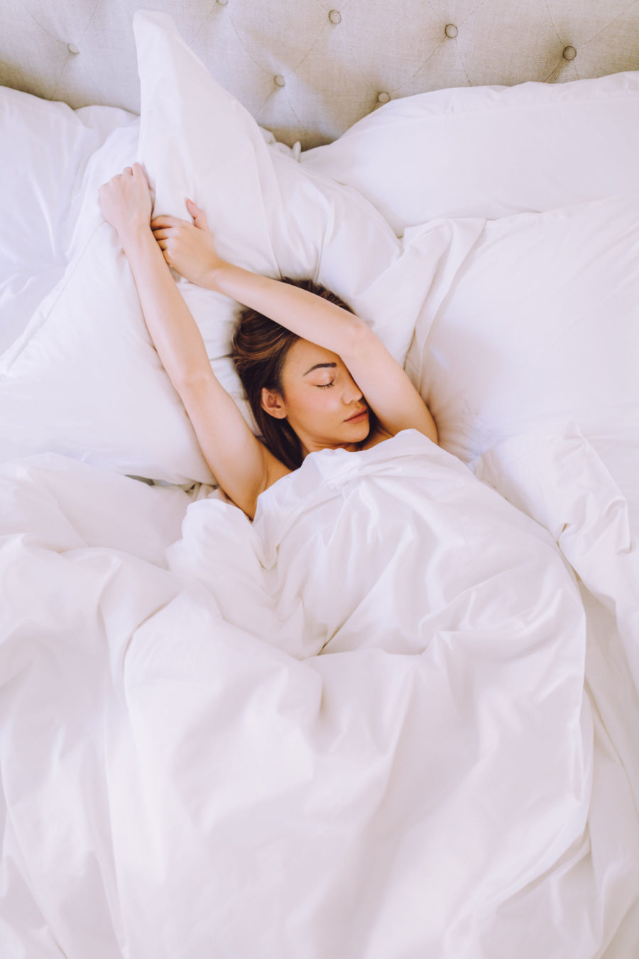 jessica wang sleeping in bed for more self-care // Jessica Wang - Notjessfashion.com