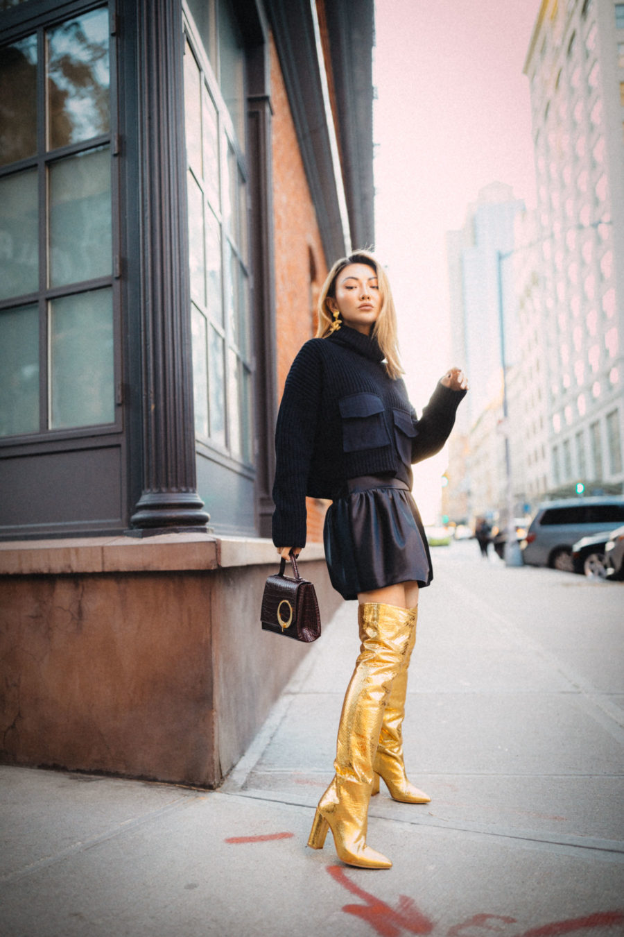 fashion blogger jessica wang wears paris texas boots and shares her budgeting tips to control your holiday shopping // Notjessfashion.com