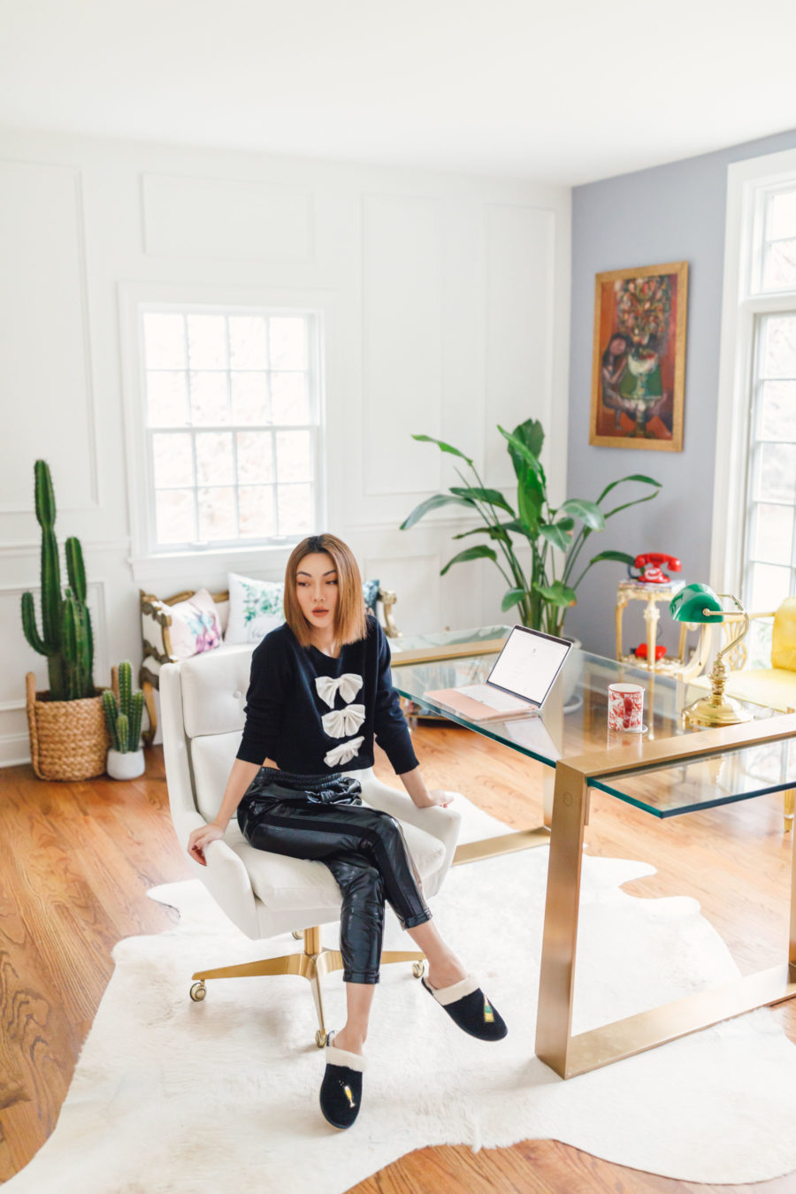 fashion blogger jessica wang at her home office sharing ways to stay productive // Jessica Wang - Notjessfashion.com