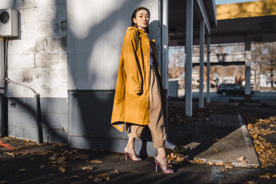 fashion blogger jessica wang wears Nike Parka in wheat color // Notjessfashion.com