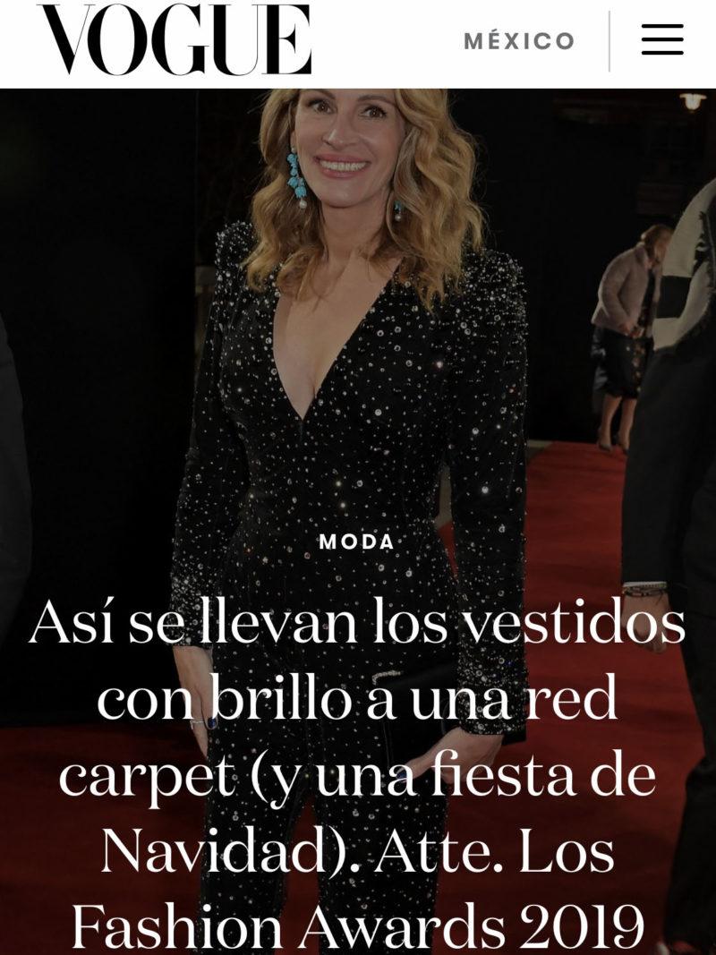 Vogue Mexico British Fashion Awards