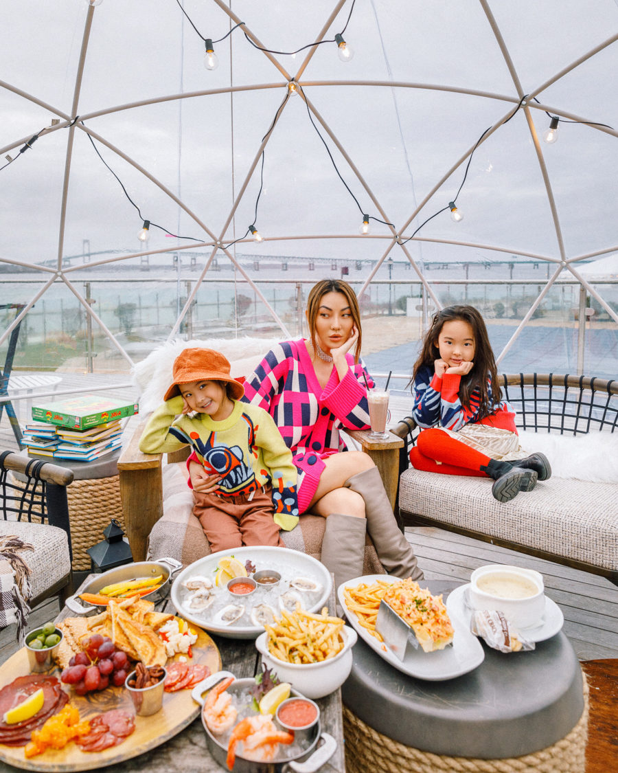 fashion blogger jessica wang with her kids during lunch and shares tips on what to do during a coronavirus lockdown // Jessica Wang - Notjessfashion.com