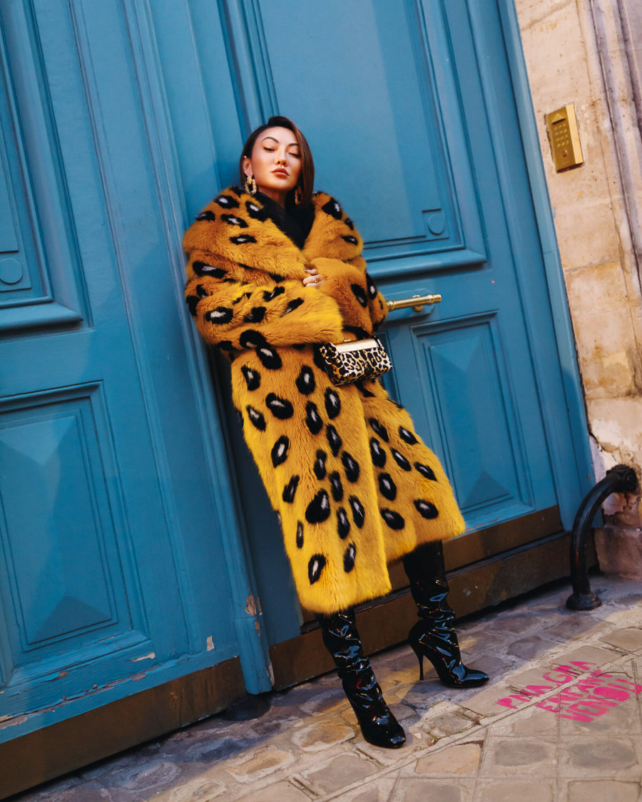 fashion blogger jessica wang wears ermanno scervino leopard coat and shares her favorite fashion brands of 2020 // Notjessfashion.com