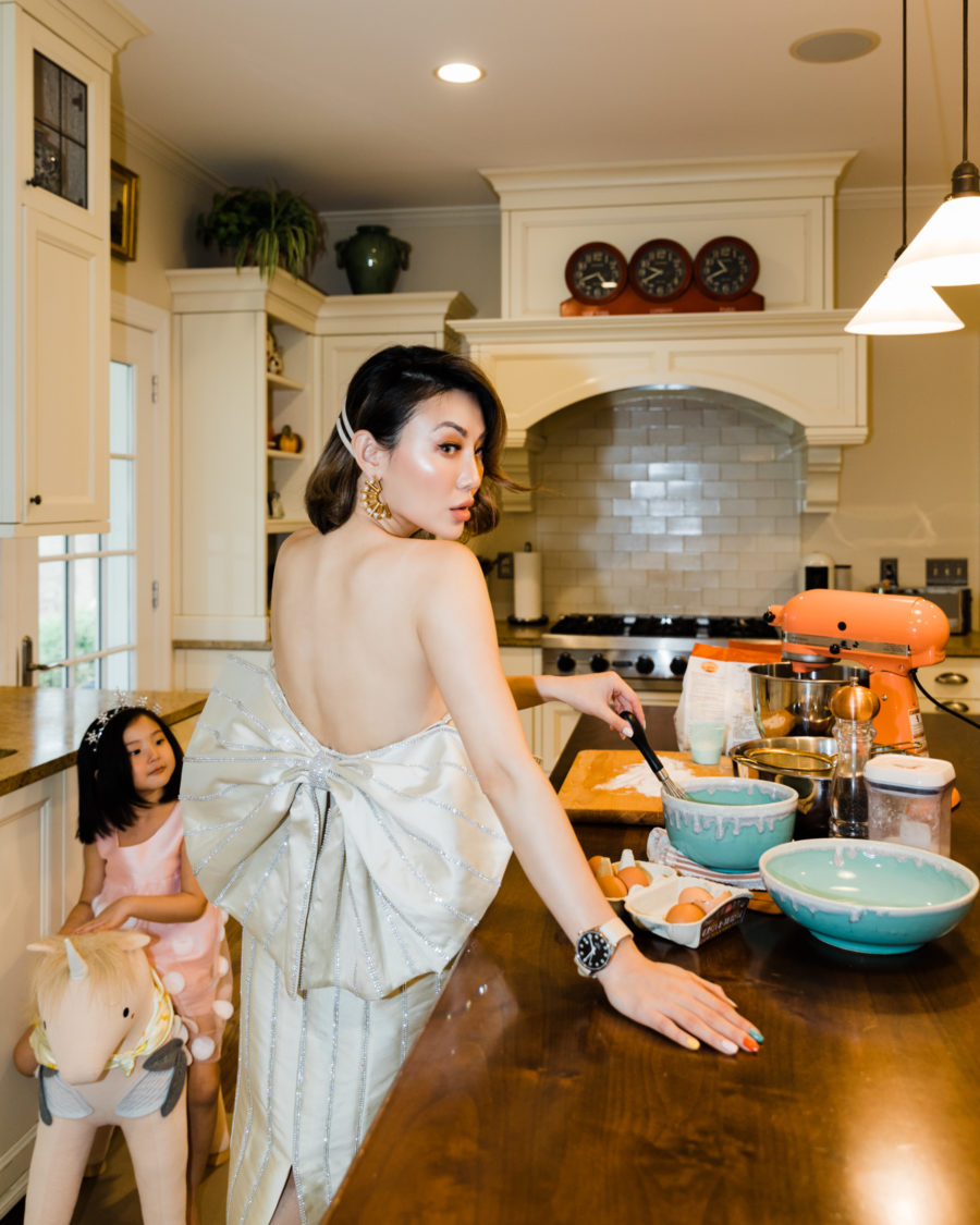 fashion blogger jessica wang baking in the kitchen and shares online learning resources for kids // Jessica Wang - Notjessfashion.com