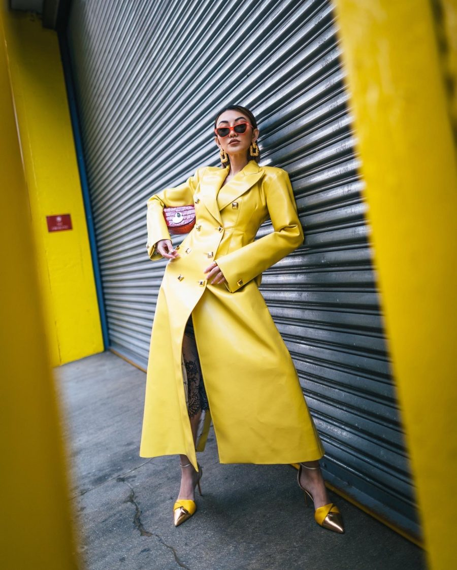 fashion blogger jessica wang wears spring color trends in yellow // Jessica Wang - Notjessfashion.com