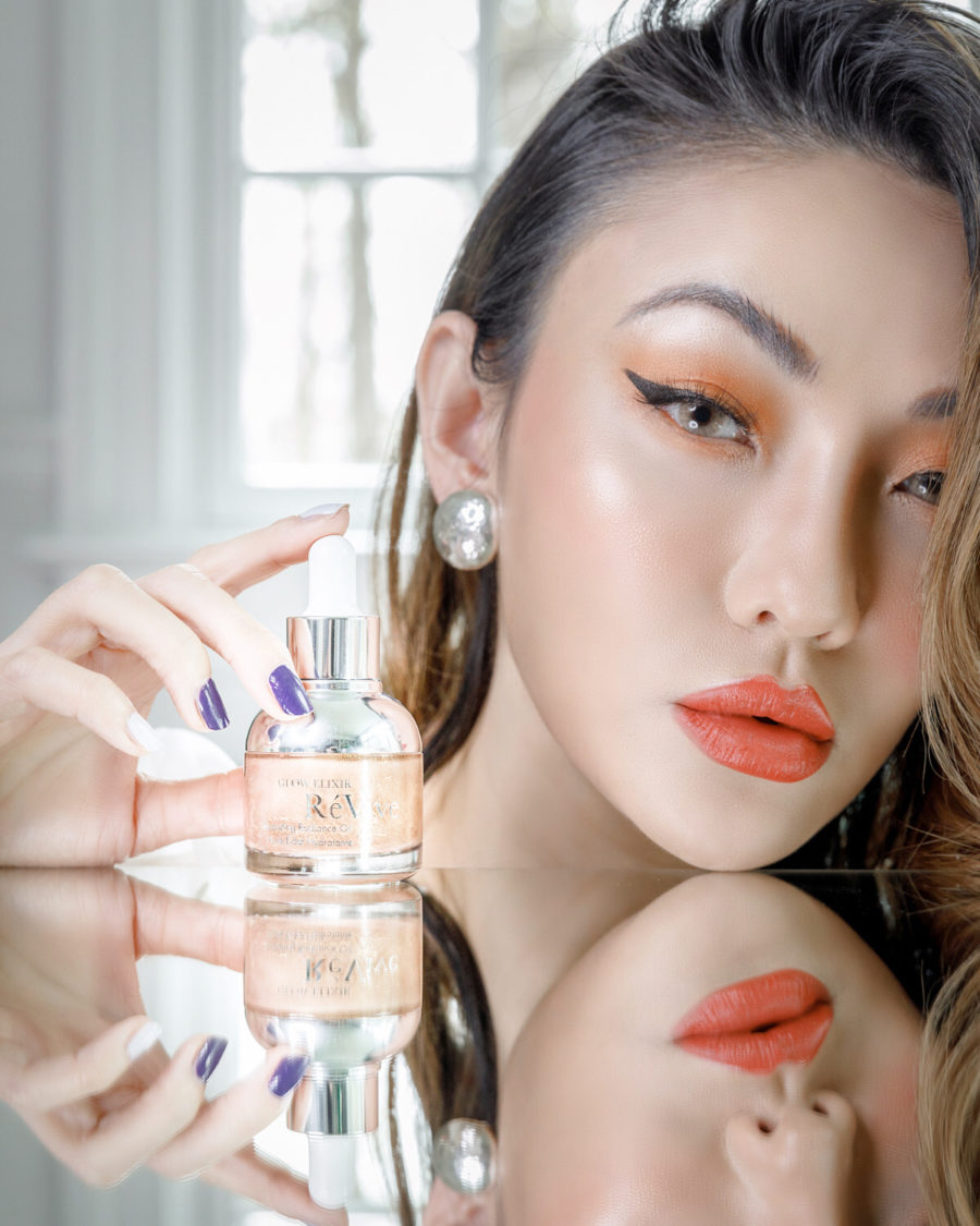 fashion blogger jessica wang wears revive glow elixir while sharing her self-care guide at home // Jessica Wang -Notjessfashion.com