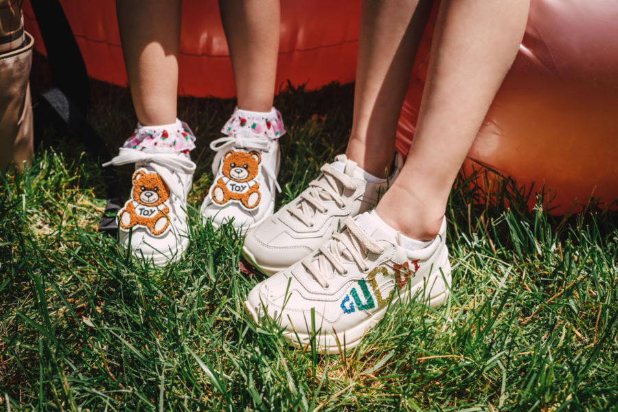 gucci sneakers and moschino sneakers for little girls // Jessica Wang - Notjessfashion.com