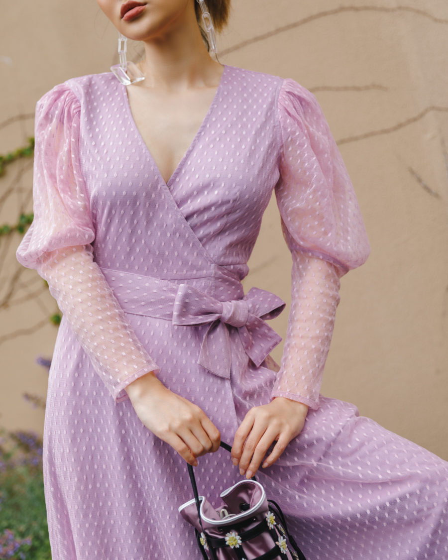 jessica wang x amazon the drop lavender wrap dress // Jessica Wang - Notjessfashion.com