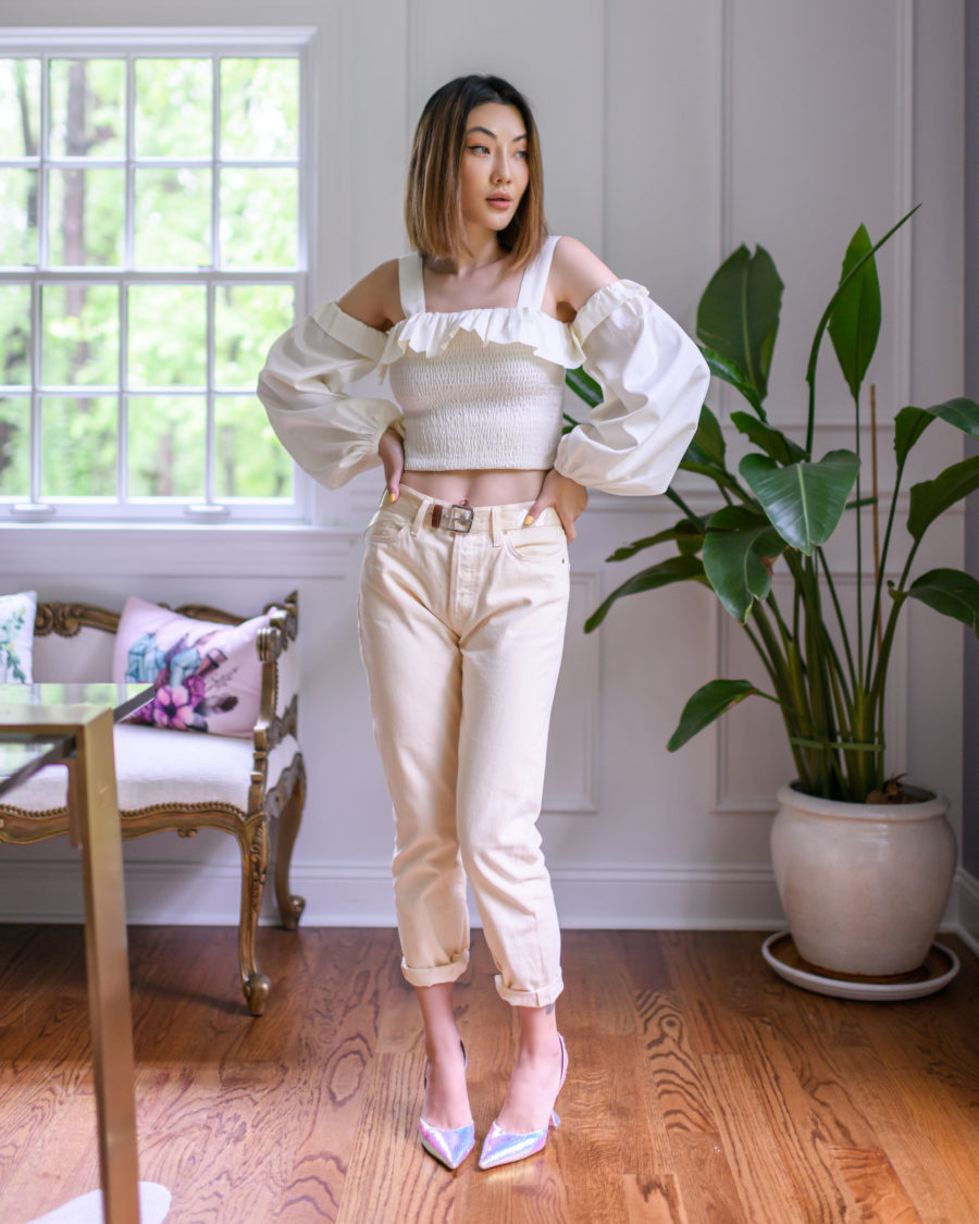 jessica wang x amazon the drop smocked crop top // Jessica Wang - Notjessfashion.com