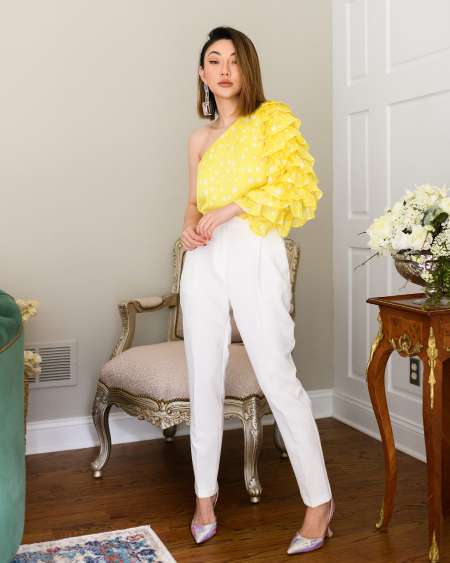 my collection with amazon the drop featuring lemon blouse // Jessica Wang - Notjessfashion.com