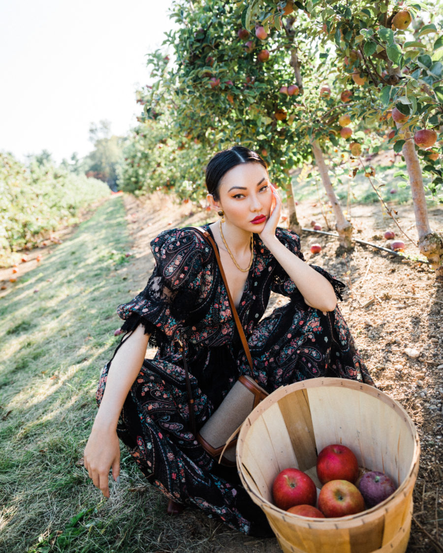 fashion blogger jessica wang at apple orchard for fall family photos // Jessica Wang - Notjessfashion.com