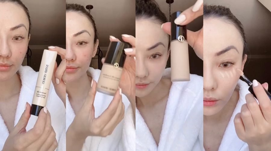 jessica wang using armani beauty luminous silk line for flawless skin // Jessica Wang - Notjessfashion.com