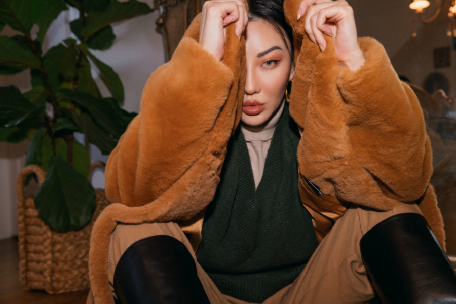jessica wang wears stand faux fur coat and shares where to buy designer brands on sale // Jessica Wang - Notjessfashion.com