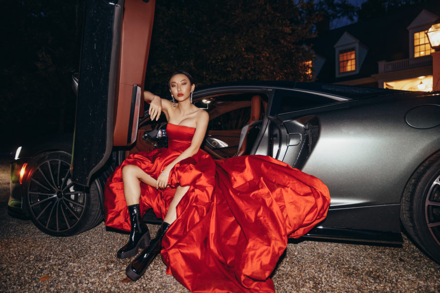 fashion blogger jessica wang wearing a red dress with chunky boots and sharing her favorite fashion items // Jessica Wang - Notjessfashion.com