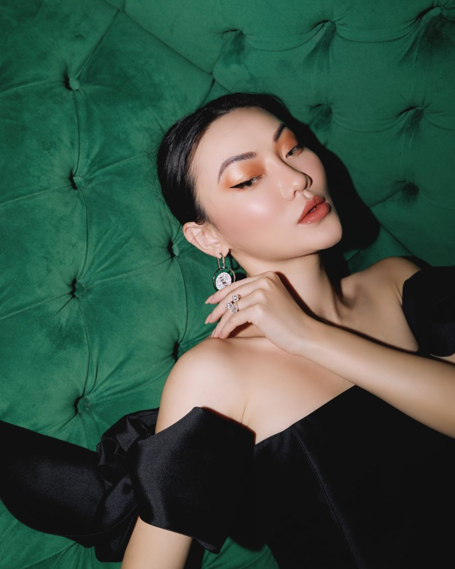 jessica wang wearing drop earrings and sharing her favorite zoom friendly accessories // Jessica Wang - Notjessfashion.com