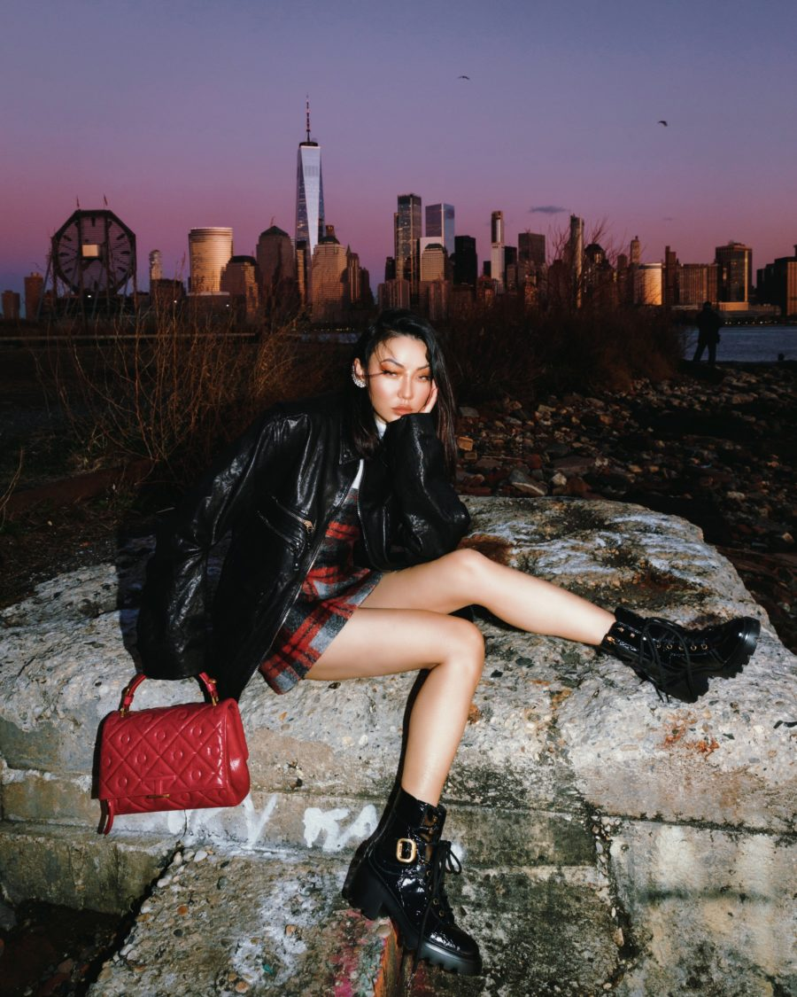 jessica wang wearing tod's combat boots and a tod's handbag while sharing designer dupes // Jesisca Wang - Notjessfashion.com