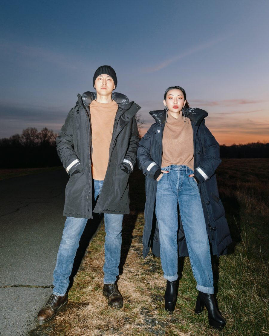 winter parka couple matching outfit ideas // Jessica Wang - Notjessfashion.com