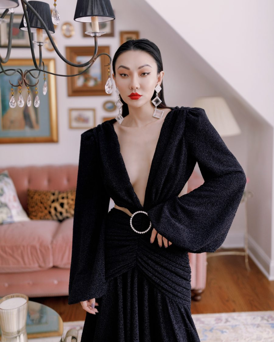 jessica wang wearing a patbo gown and sharing cheap valentine's day gifts // Jessica Wang - Notjessfashion.com