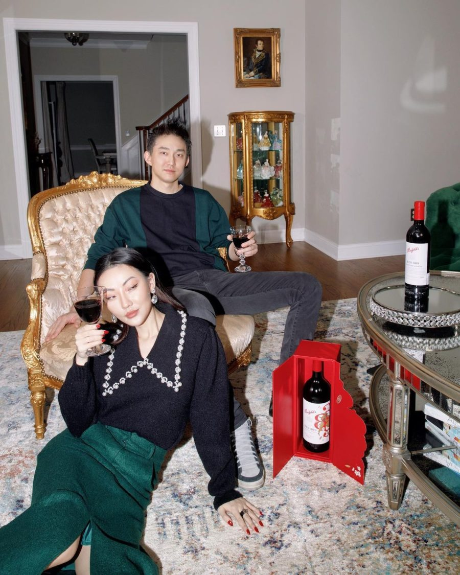 green matching couple outfit ideas // Jessica Wang - Notjessfashion.com