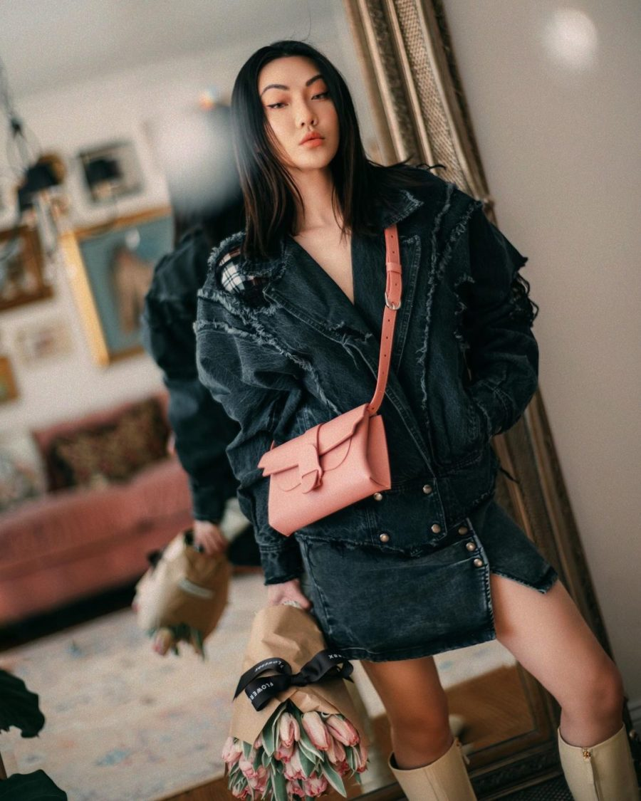 spring transitional outfits with denim // Jessica Wang - Notjessfashion.com