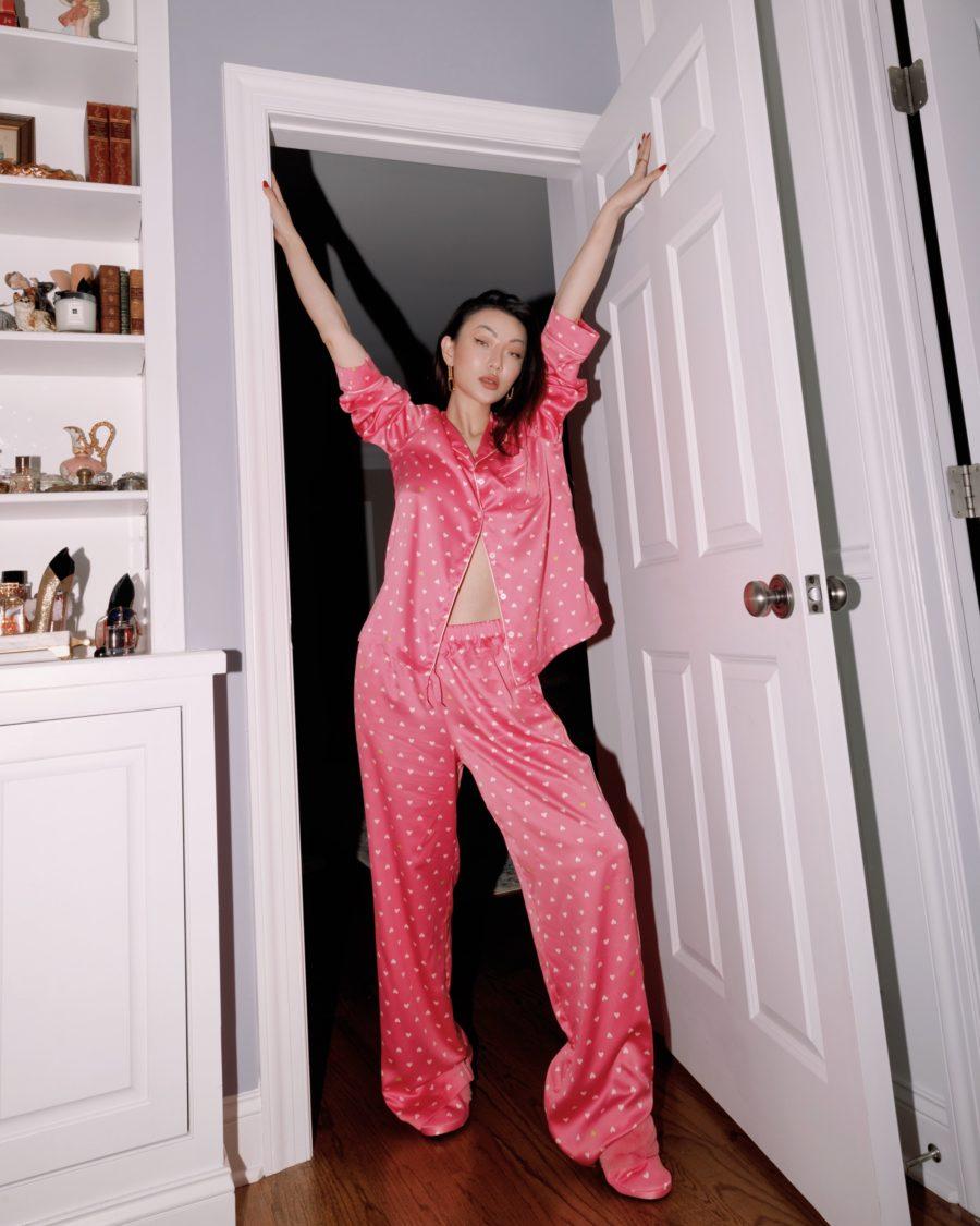 jessica wang wearing chic sleepwear by victoria's secret // Jessica Wang - Notjessfashion.com