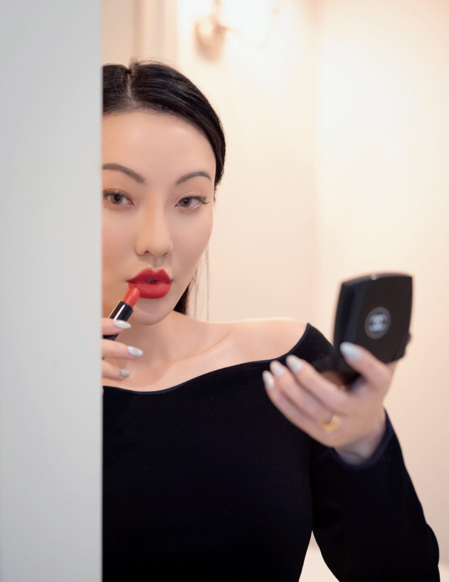 Jessica wang wearing chanel lipstick // Jessica Wang - Notjessfashion.com